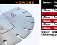 Tarcza diamentowa do cięcia klinkieru 500 mm